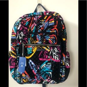 New Vera Bradley BUTTERFLY iconic campus backpack